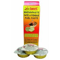 Pâte combustible longue durée pour fondue ou pierrade - Lot de 3 - FAVORIT - Allume-feux - BR-203447