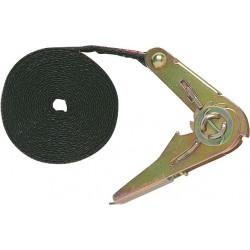 Sangle d'amarrage avec tendeur à cliquet - 5 M x 35 mm - JOUBERT - Tendeur - BR-640411