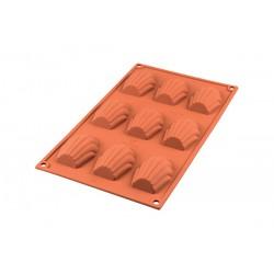 Plaque de moule à madeleine - Silisone - 9 unités - SILIKOMART - Moules - 387613D