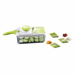 Mandoline à poignée et accessoires - 37.5 cm - THE KITCHENETTE - Couper / Éplucher fruits et légumes - 5040318
