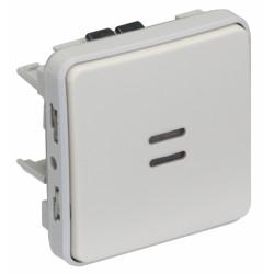 Poussoir lumineux à bascule Plexo - Blanc - LEGRAND - Appareillage : Commandes / interrupteurs... - BR-404187