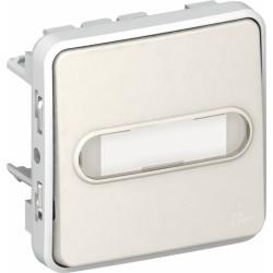 Poussoir porte-étiquette lumineux (voyant fourni) Plexo - Blanc - LEGRAND - Appareillage : Commandes / interrupteurs... - BR-...