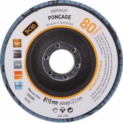 Disque à lamelles - Zirconium - Diamètre 150 mm - Grain 80 - SCID - Disque - BR-044740