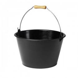 Seau à vendanges -Plastique - Poignée bois - 15.5 L - Noir - EDA - Seau de jardin - BR-111587