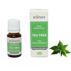 Huile essentielle BIO de Tea Tree 100% pure et naturelle -10 ml - AROFLORA - Huiles essentiellles - DE-198390