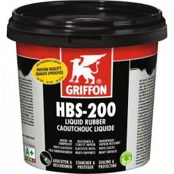 Caoutchouc liquide - Enduit de protection universel étanche - HBS-200 - 1 L - GRIFFON - Enduit anti-humidité / étanchéité - S...