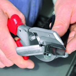 Pince pour coupes obliques pour profilés en plastique et en caoutchouc - 215 mm - KNIPEX - Pinces - 14023