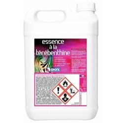 Essence à la térébenthine - Détachant, nettoyant bois cirés et cuirs - 5 L - ONYX - Détachant pour textile - BR-454481