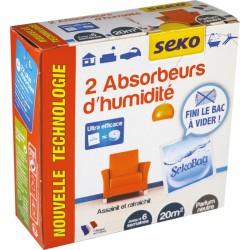 2 sachets Absobeurs d'humidité - Sekobag - 20 m² - SEKO - Humidité / moisissures - BR-202456