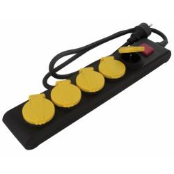 Bloc multiprise étanche IP44 - Bouchons et interrupteur - 5 prises - DHOME - Multiprises et blocs parafoudre - BR-243022