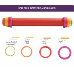 Rouleau à patisserie - 41 cm - Silicone - ajustable et anti-adhérent- MASTRAD - Accessoires de patisserie - DE-160465