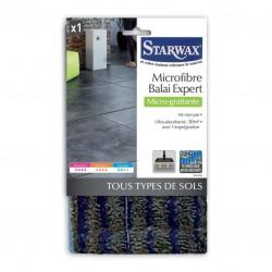 Microfibre Micro-grattante pour balai expert - Tous sols - STARWAX - Serpillière - 1592
