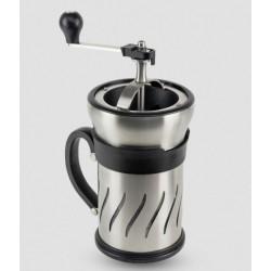 Moulin à café et cafetière à piston 2 en 1 - 15 cm - Paris Press - PEUGEOT - Pour le Thé, Café, petit déjeûner - DE-331116