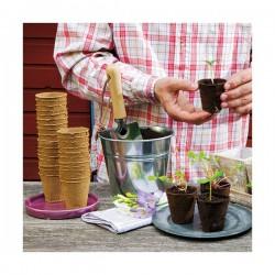 16 pots biodégradables de 8 cm de diamètre - 100 % biodégradables - Pour semis - ROMBERG - Pots biodégradables - DE-758292