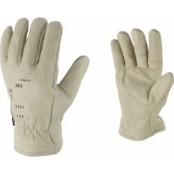 Gants en cuir molletonné Anti-froid - Thinsulate - OUTIBAT - Gants de bricolage - BR-539746