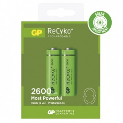 2 piles rechargeables - Recyko 270AAHCE-2GBW2 / AA - GP - Pile rechargeable - DE-307752