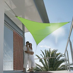 Voile d'ombrage triangulaire - First - 3 M - Vert Pomme - JARDILINE - Voile d'ombrage - DE-477745