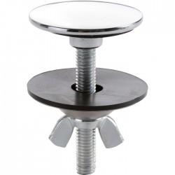 Cache trou lisse chromé - 42.5 mm - NICOLL - Bouchons / clapets et grilles de vidage - SI-471012