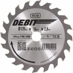 Lame de scie circulaire au carbure - 20 dents - Diamètre 125 - Alésage 16 - SCID - Scie / Lame - BR-231453