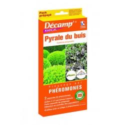 Recharge de phéromones pour piège contre la pyrale du buis - 2 recharges - DECAMP - Insectes volants - DE-181081