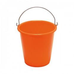 Seau ménager en palstique avec anse - 5 L - Orange - ALUMINIUM & PLASTIQUE - Bassine et seau - DE-550517