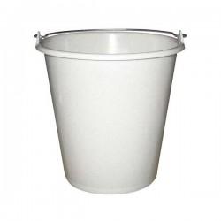 Seau ménager en plastique avec anse - 5 L - Blanc - ALUMINIUM & PLASTIQUE - Bassine et seau - DE-654111