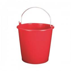Seau ménager en palstique avec anse - 5 L - Rouge - ALUMINIUM & PLASTIQUE - Bassine et seau - DE-654129