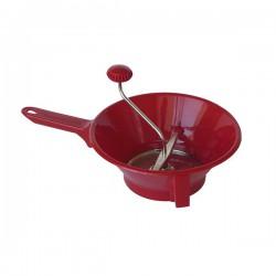 Passe-légumes en plastique - 2 grilles - Rouge cerise - GUILLOUARD - Couper / Éplucher fruits et légumes - DE-150888