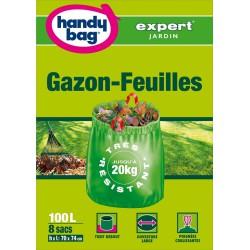 8 sacs à gazon et feuilles - Très résistant - 100 L - HANDY BAG - Accueil - DE-221052