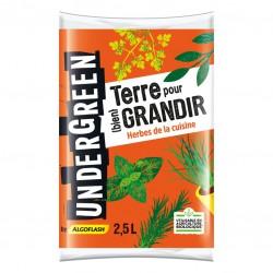 Terreau Herbes de cuisine - Terre pour bien grandir - 2.5 L - UNDERGREEN - Terreau - DE-383050