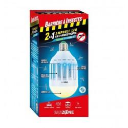 Barrière à Insectes - Ampoule LED anti-moustiques 2 en 1 - Barzone - 45 m² - BARRIERE A INSECTES - Insectes volants - DE-25...