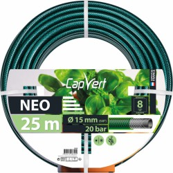 Tuyau d'arrosage Neo 3 couches - 15 x 25 M - CAP VERT - Tuyaux d'arrosage - BR-508620
