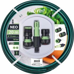 Batterie tuyau d'arrosage Neo 3 couches + raccords - 19 x 20 M - CAP VERT - Tuyaux d'arrosage - BR-508625