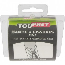 Bande à fissures fine- 20 m x 8 cm - TOUPRET - Ruban adhésif réparation - BR-295027