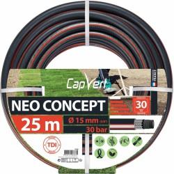 Tuyau d'arrosage Neo concept - 6 couches - 15 x 25 M - CAP VERT - Tuyaux d'arrosage - BR-508688