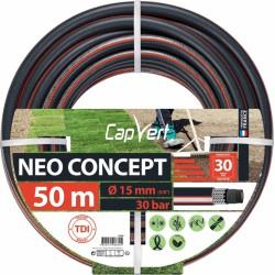 Tuyau d'arrosage Neo concept - 6 couches - 15 x 50 M - CAP VERT - Tuyaux d'arrosage - BR-508689