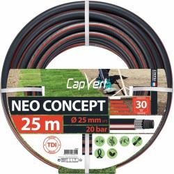 Tuyau d'arrosage Neo concept - 6 couches - 25 x 25 M - CAP VERT - Tuyaux d'arrosage - BR-508692