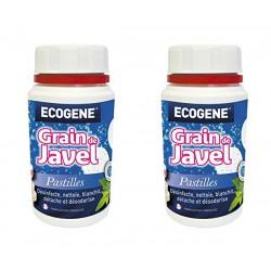 Pastilles de Javel - Grain de javel - Menthe - 170 Grs - Lot de 2 - ECOGENE - Hygiène de la maison - 077941A