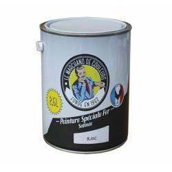 Peinture Spécial Fer - Satinée - Blanc - 2.5 L - ONIP - Peintures - MC70193