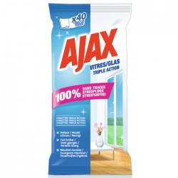 Lingettes vitres - x 40 - AJAX - Entretien des vitres - BR-101528