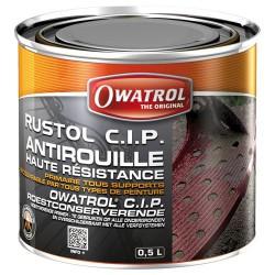 Primaire anticorrosion haute résistance - Rustol CIP - 500 ml - OWATROL - Antirouille - 65101