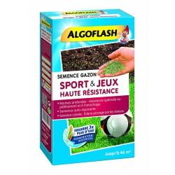 Semence Gazon Sport et Jeux Haute Résistance - 1 Kg - 46 m² - ALGOFLASH - Gazon et pelouse - DE-287954