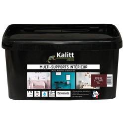 Peinture multi-supports - Intérieur - Mat - Rouge velours - 2.5 L - KALITT - Peintures - DE-367805
