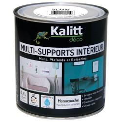 Peinture multi-supports - Intérieur - Mat - Blanc - 0.5 L - KALITT - Peintures - DE-366849