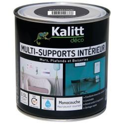 Peinture multi-supports - Intérieur - Mat - Carbone - 0.5 L - KALITT - Peintures - DE-366956