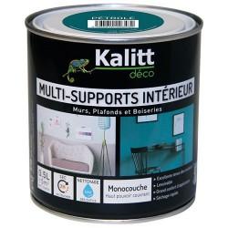 Peinture multi-supports - Intérieur - Mat - Pétrole - 0.5 L - KALITT - Peintures - DE-367383