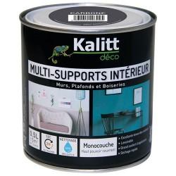 Peinture multi-supports - Intérieur - Satin - Carbone - 0.5 L - KALITT - Peintures - DE-366724