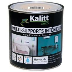 Peinture multi-supports - Intérieur - Satin - Lin - 0.5 L - KALITT - Peintures - DE-366550