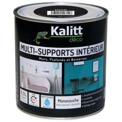 Peinture multi-supports - Intérieur - Satin - Noir - 0.5 L - KALITT - Peintures - DE-366732