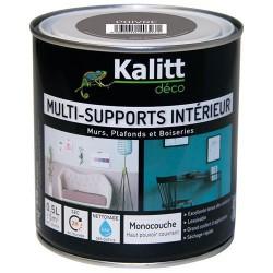 Peinture multi-supports - Intérieur - Satin - Poivre - 0.5 L - KALITT - Peintures - DE-366659